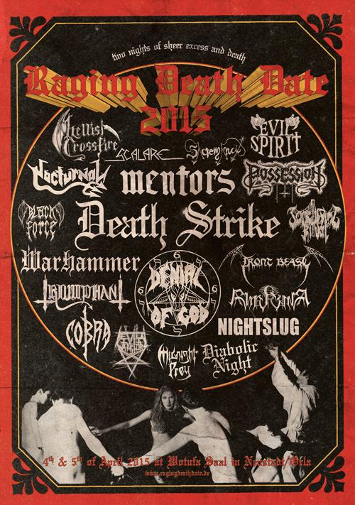 Raging Death Date 2011 mit: VANDERBUYST, MANIAC BUTCHER, Necrovation ...